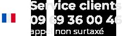 Site et service clients basé en France